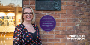 Women in innovation Purple Plaque